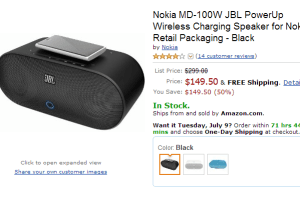 JBL PowerUp Back at $149 Again on Amazon (Black)