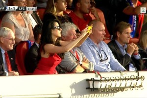 Spotted: Liverpool FC/Boston Red Sox Owner's stylish Wife, Linda Pizzuti with a yellow Nokia Lumia 1020