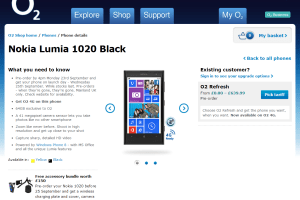 Lumia 1020 64Gb version available to pre-order – O2