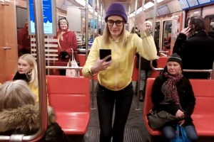 Nokia: How to charge your phone by dancing. Note feature error – taking glove off to use the Lumia.