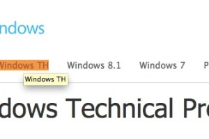 WTH? Windows TH (ThresHold?) spotted on Microsoft's Windows Technical Preview site
