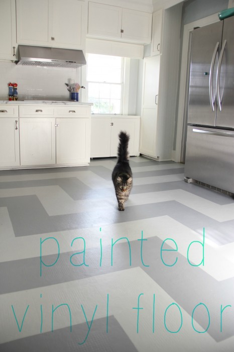 You Can Paint A Vinyl Floor! | My Old Country House