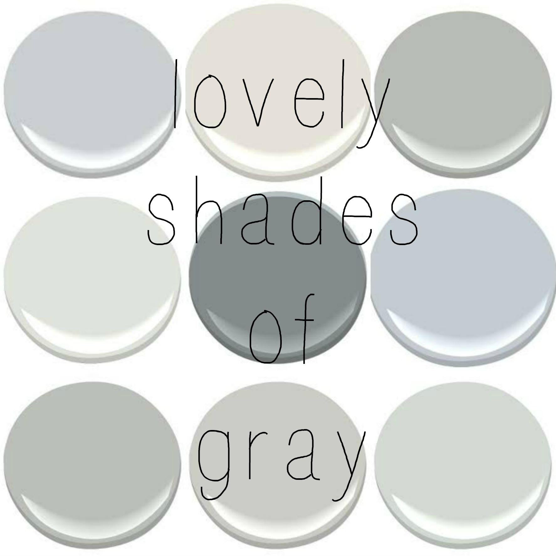 Metropolitan Benjamin Moore Favorite Shades Of Gray