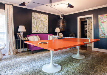 ORC SPRING 2015 - HOLLY'S UNUSED LIVING ROOM TURNED PING PONG EMPORIUM FROM THE ENGLISH ROOM