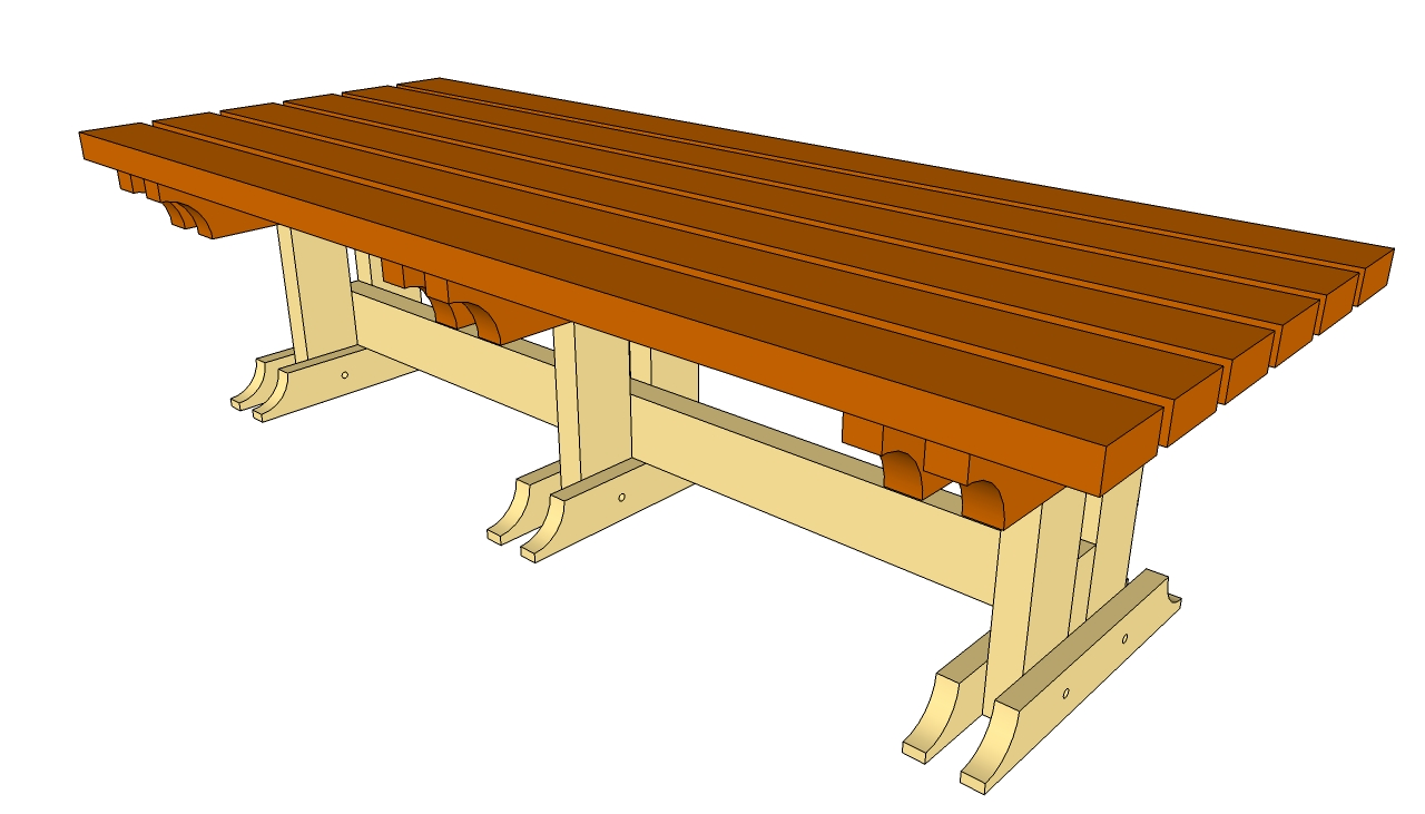 Table Garden Plans Layout Simple Bench Plans | Myoutdoorplans | Free Woodworking