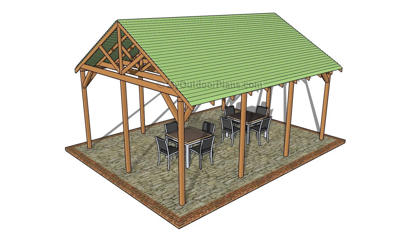 Wood Picnic Shelter Plans Outdoor Boxes For Early Years