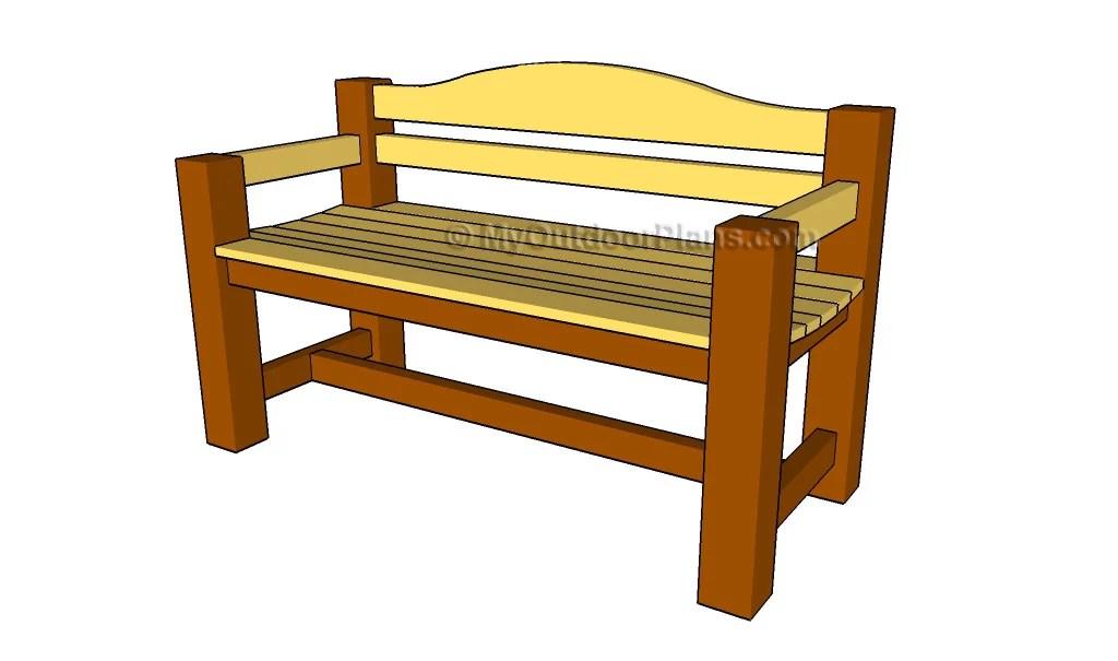 Patio Bench Plans