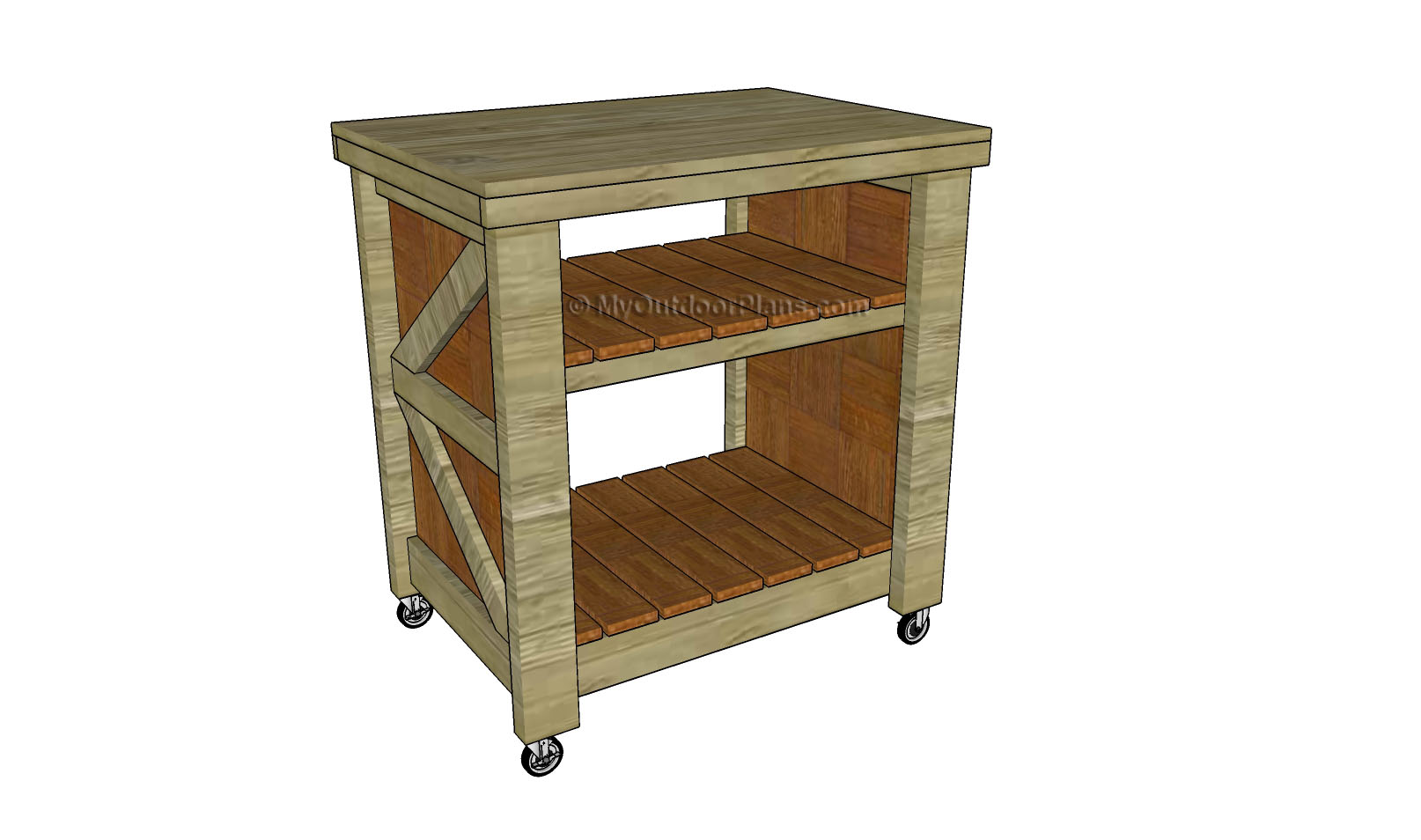 Plans Kitchen Island Small Kitchen Island Plans | Free Outdoor Plans - Diy Shed