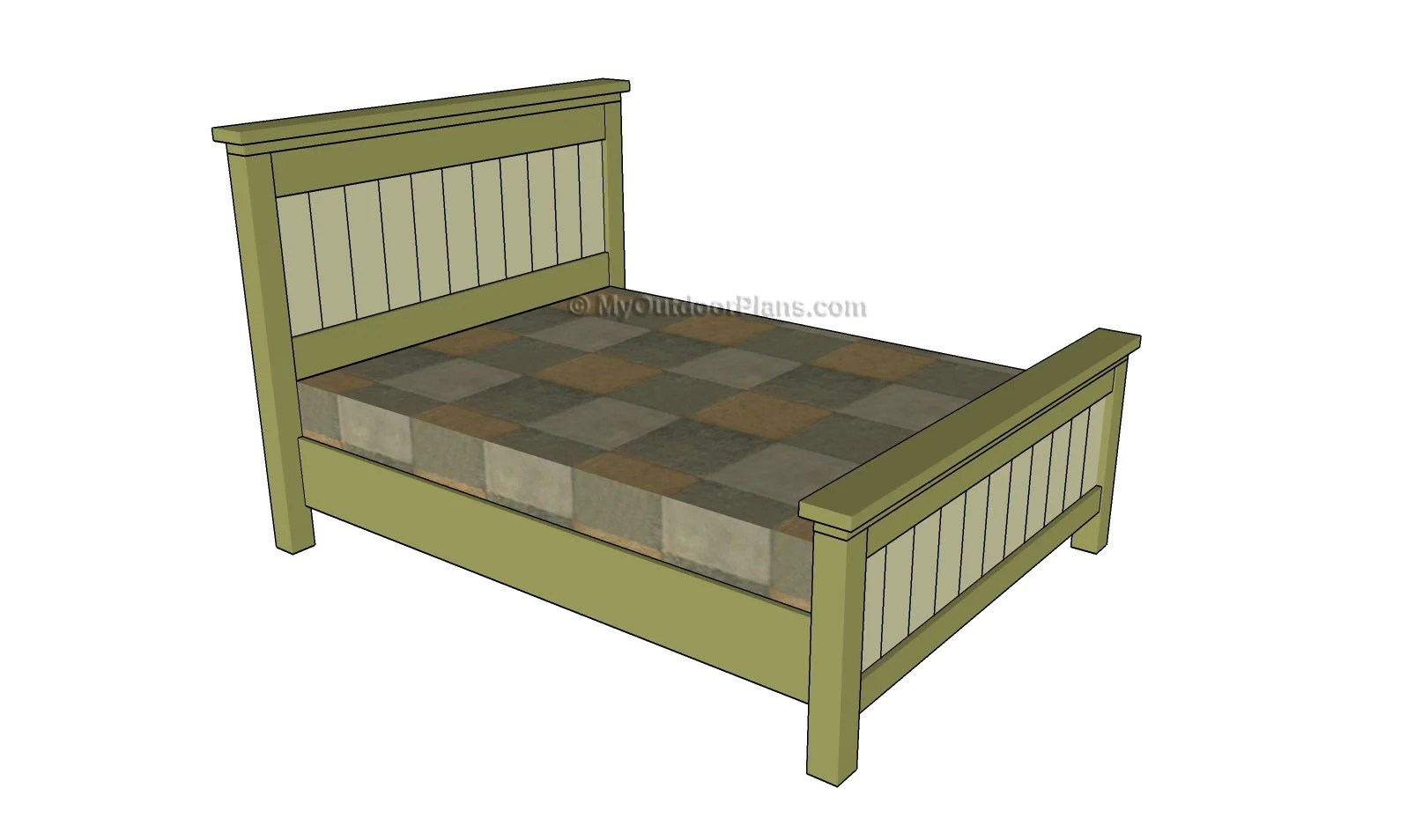 Size Of Queen Bed Queen Size Bed Plans Myoutdoorplans Free Woodworking Plans And