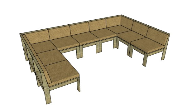 Patio Sectional Plans Outdoor Sectional Sofa Plans | Myoutdoorplans | Free