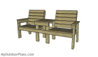 Large Double Chair Bench Plans | MyOutdoorPlans | Free ...