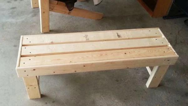 Diy Easy To Build Bench Myoutdoorplans Free