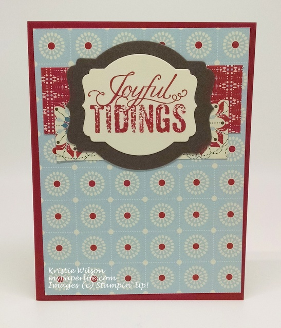 2015 Card 57 - Stampin Up Christmas Messages