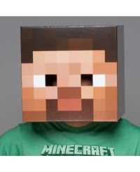 Minecraft Steve Head Cardboard Mask