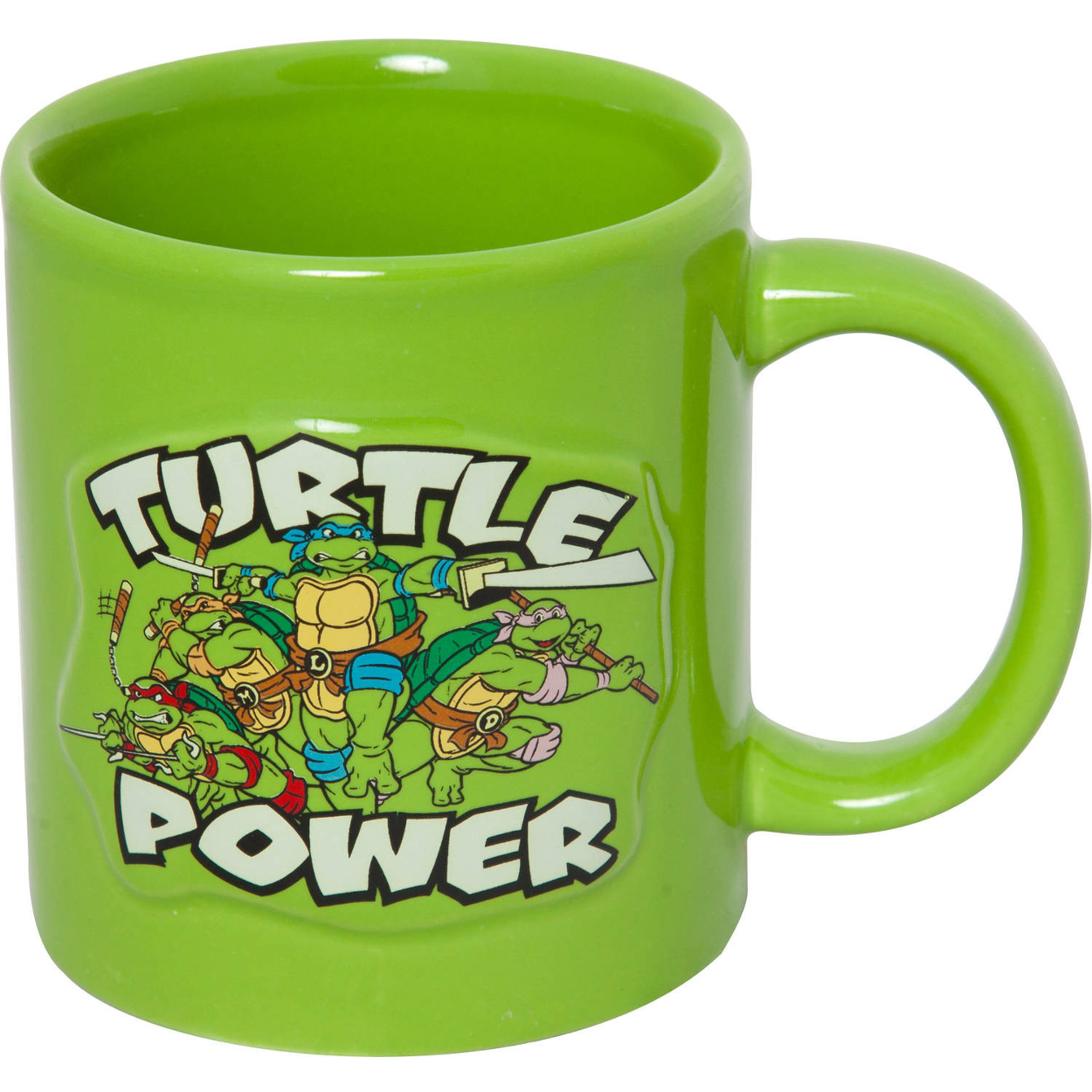 Ninja Mugs Teenage Mutant Ninja Turtles Turtle Power Embossed Coffee