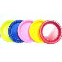 "Assorted 9"" Dinner Plastic Plates"
