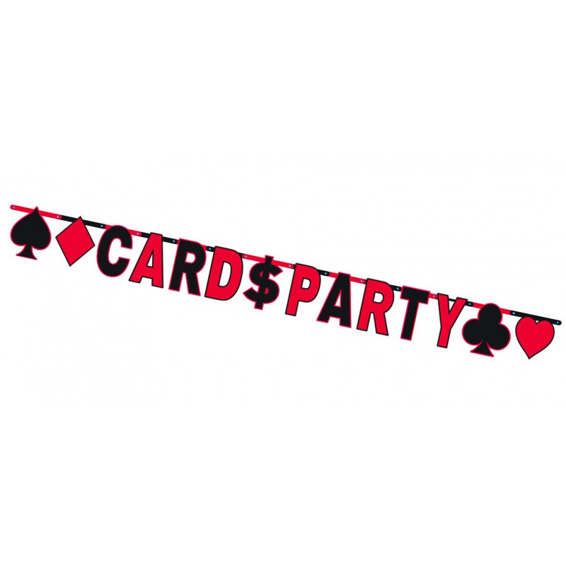 Cards Party Letter Banner