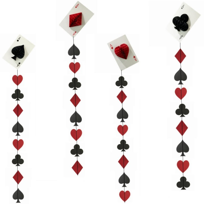 Cards Party Hanging Decor (4 Pc) - cards party