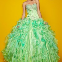 A Mint, Pink and Gold Quinceanera