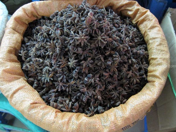 Star Anise for sale Fong Xuan market, Hanoi
