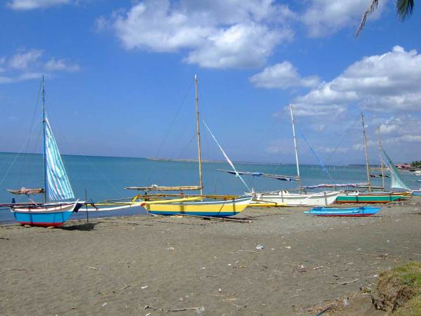 Parara Beach where US troops landed to liberate Panay Island, March 18, 1945