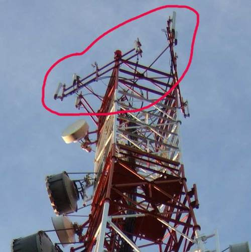 Smart cell tower in Tigbauan with SmartBro base stations circled