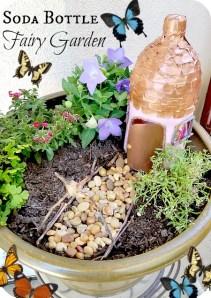 Soda Bottle Fairy Garden