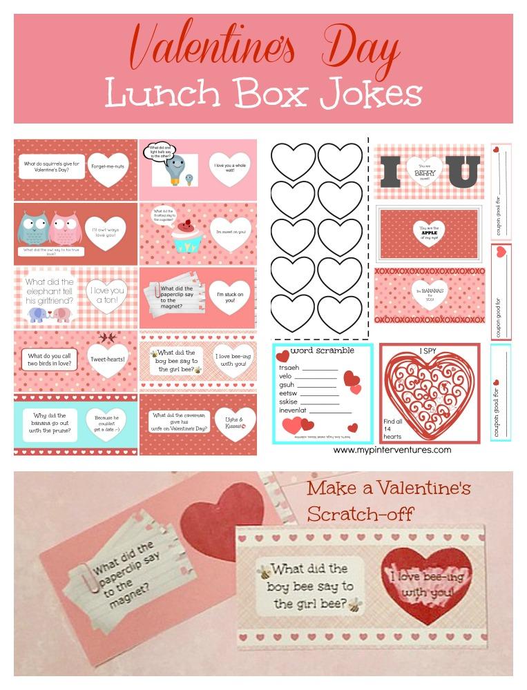 DIY Scratch-off Valentine\u0027s Day Lunch Box Jokes Printable