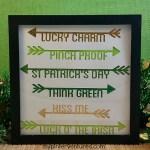 St. Patrick's Day Arrow Word Wall Art
