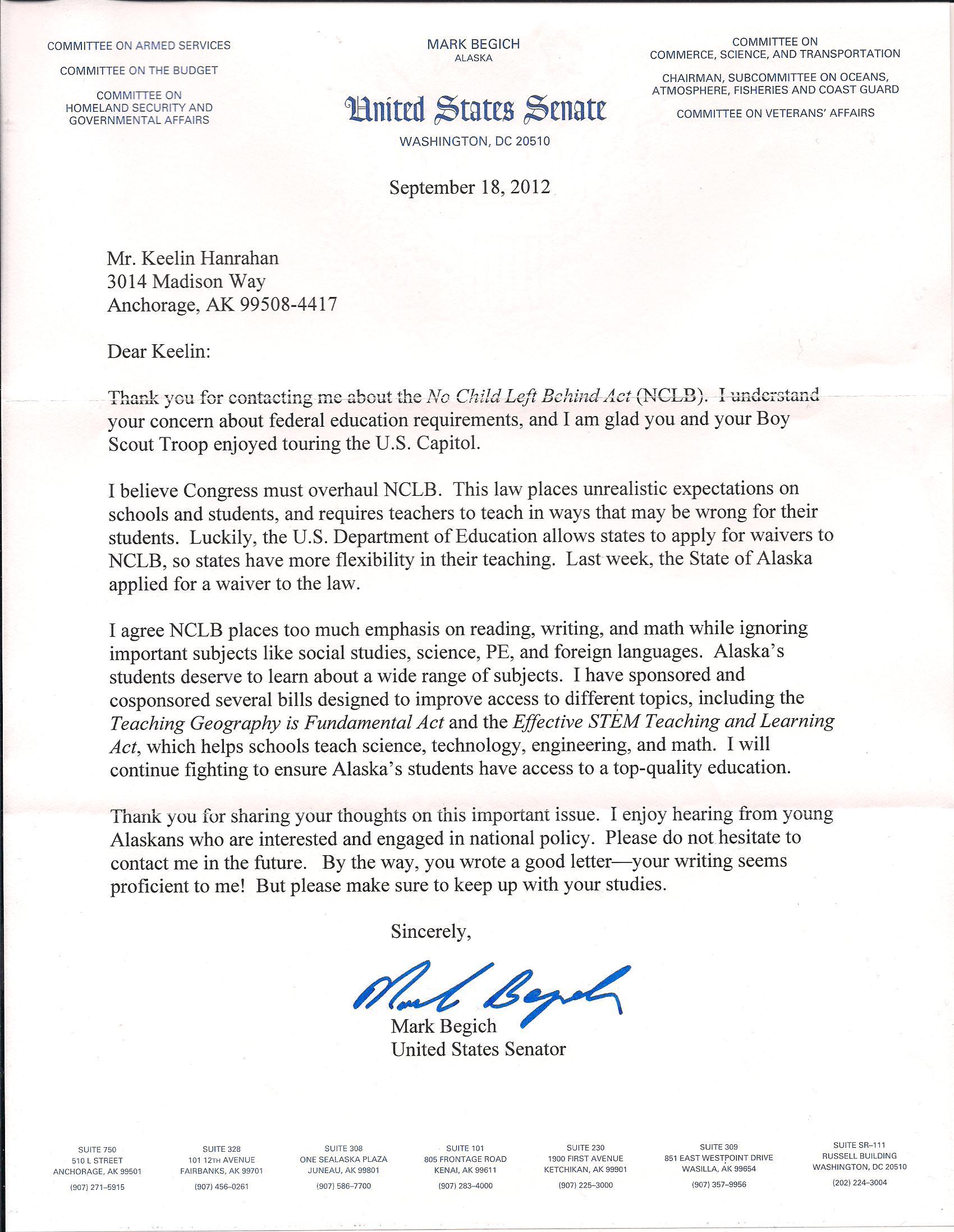Formal letter to senator sample document resume formal letter to senator sample letter to your senator letters keelin 002 spiritdancerdesigns Gallery