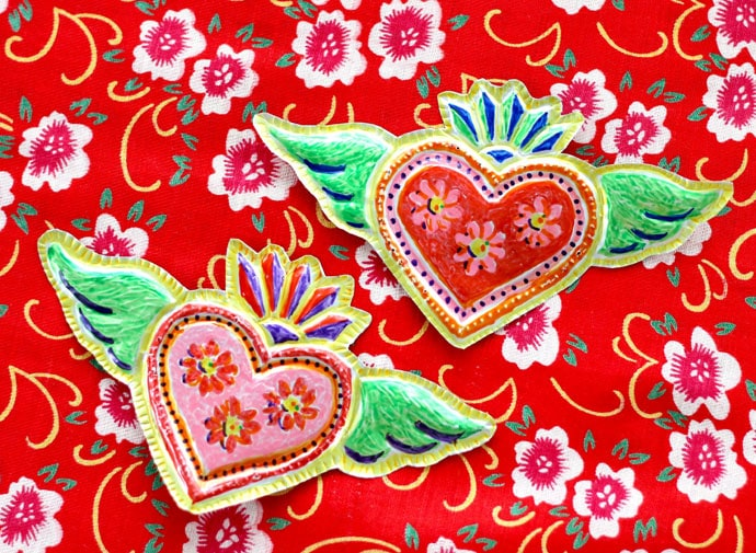 Recycled Craft – Mexican Tin Heart Folk Art