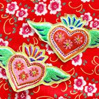 Recycled Craft - Mexican Tin Heart Folk Art