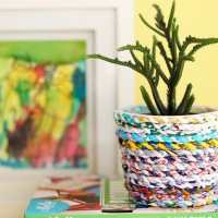 Upcycle Style: Recycled Fabric Twine Planter