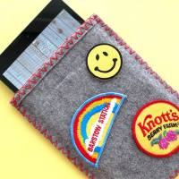 Vintage Camp Blanket iPad Cover + Cute Sew-On Patches