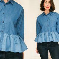 Denim Shirt Refashion