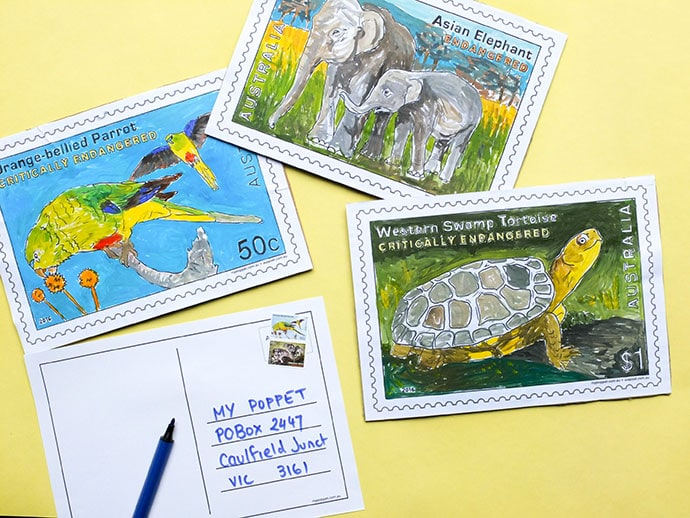 Giant Stamp Postcard with Printables
