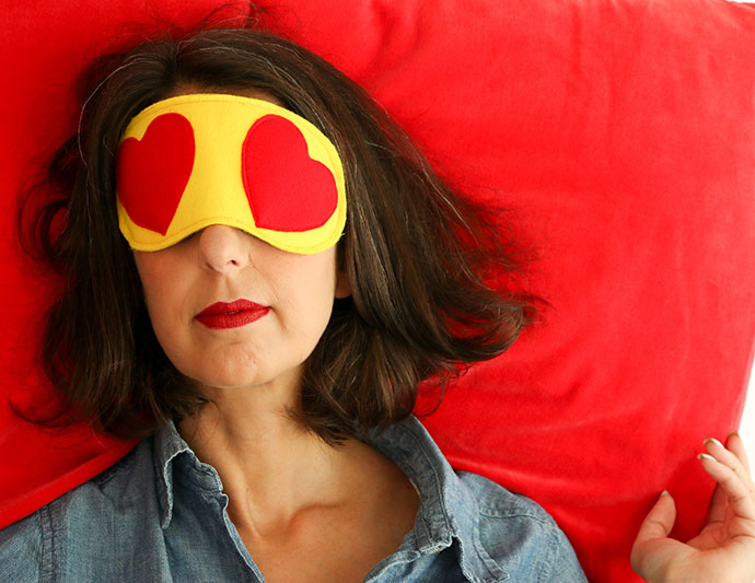 Heart Eyes Emoji Sleeping Mask