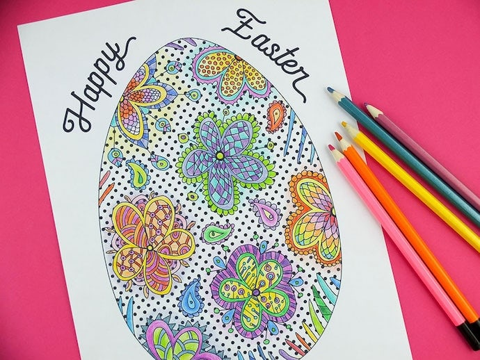 Printable: Easter Colouring Page