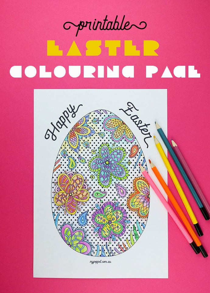 Printable Easter Colouring Page My Poppet Makes