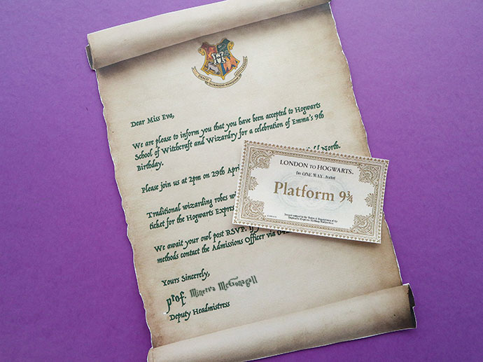 Harry Potter Party Invitation Template - Hogwarts Acceptance Letter - hogwarts acceptance letter
