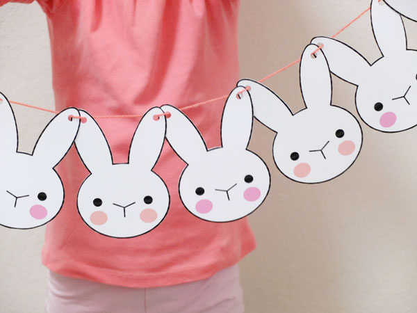 Bunny Bunting - Printable Easter Craft My Poppet Makes