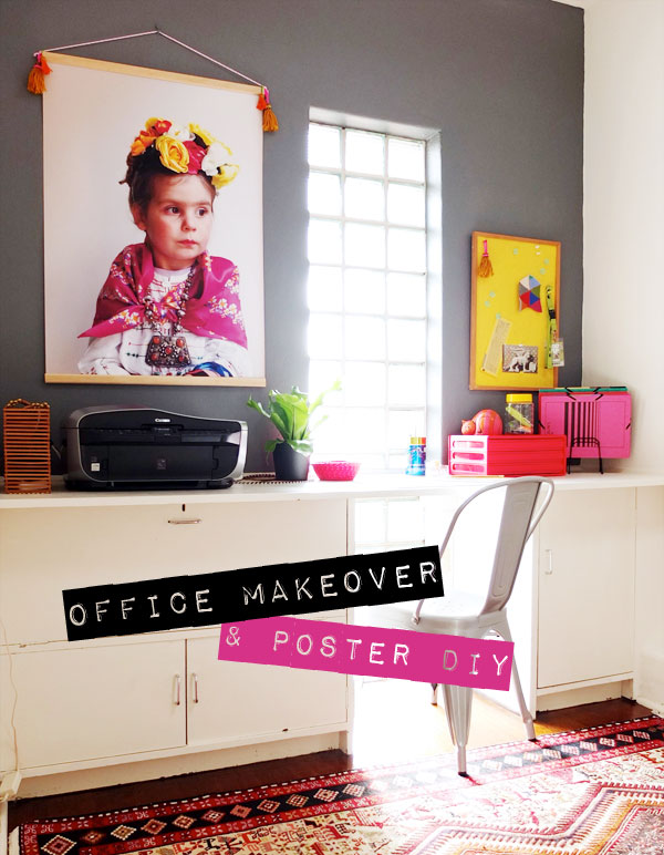Inspirational Office Makeover  Poster Hanger DIY My Poppet Makes