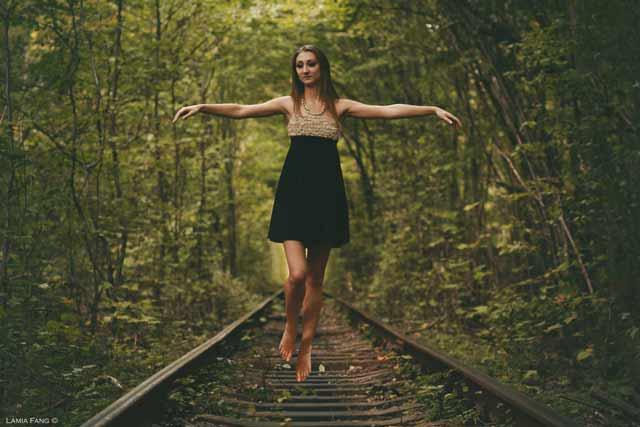 Girl Levitation Portrait Photograph