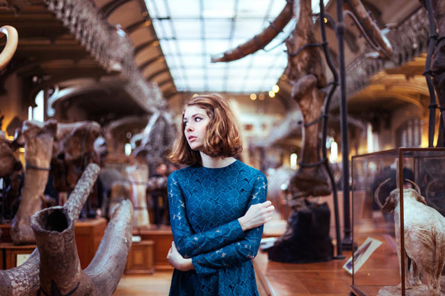 Girl in a museum portrait photography