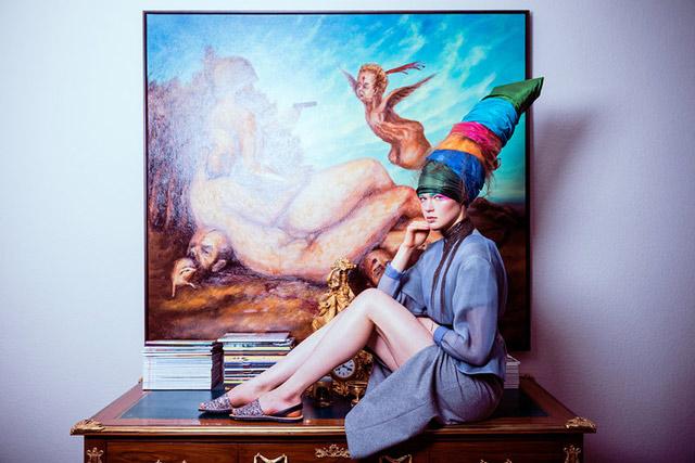 Indoor Conceptual portrait of a girl