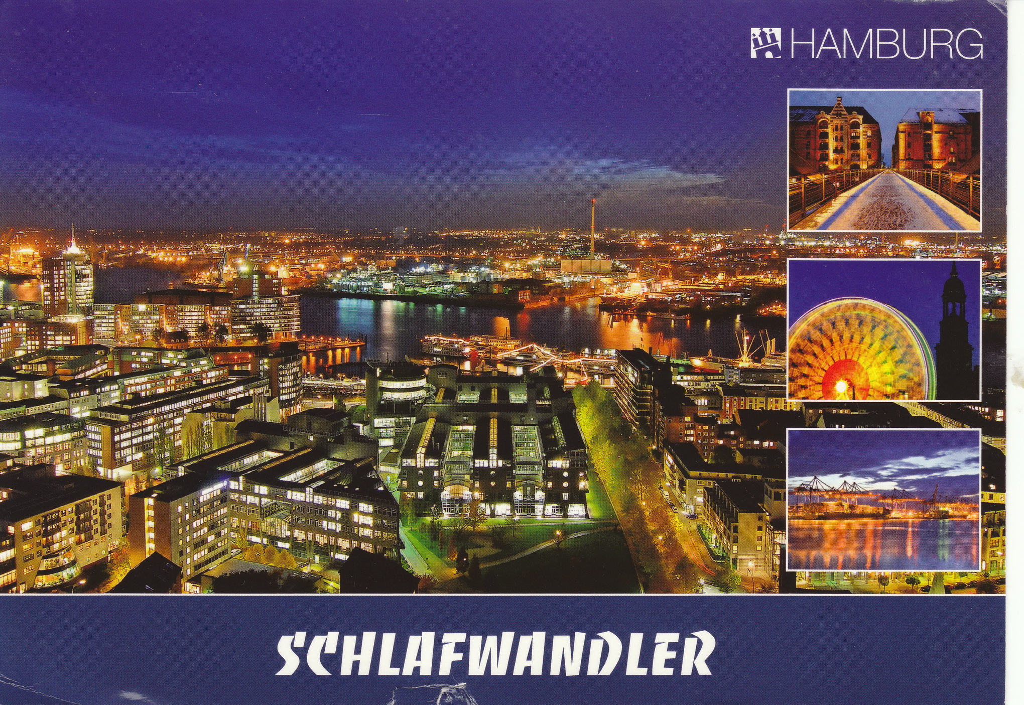 Hamburg City Card View From Hamburg Germany My Collection Of Postcards