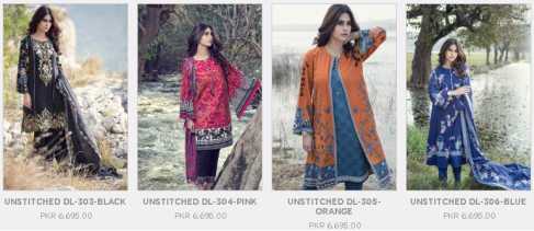 Maria B Unstitched Linen and Embroidered Digital Ladies Dresses Collections New Prices of Winter Arrival