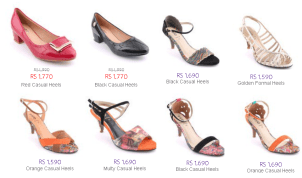 Stylo Ladies Shoes And Heels Collections Fashionable Designs Colors With Prices