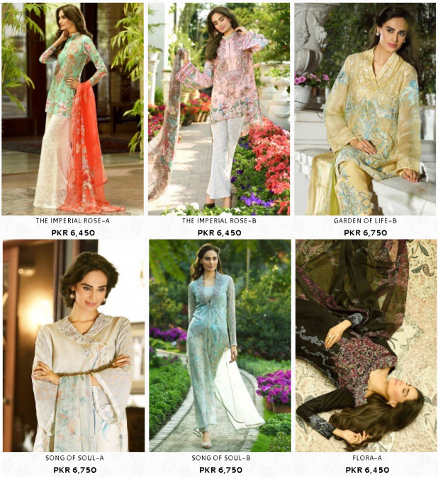 Ittehad Rahat Lawn Crystal Krinkle For Ladies Summer Dresses Collections Images Price