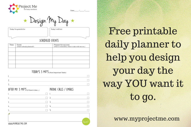 Printable Day Planner To Help You Design Your Day - day planner